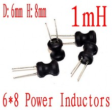 1000 stks/partij Power Inductor DIP 6*8mm 1000uh Radial Inductor 6x8mm 1mh
