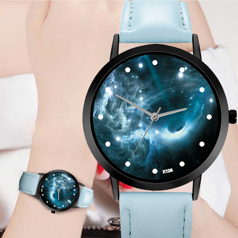 天文学惑星カジュアルクォーツスペースシステム腕時計ユニセックス上品クリエイティブユニークなソーラーレザーストラップアナログ腕時計レロジオ