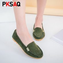 Mujer Flats 2019 puntiagudos Slip on Shoes Mujer Ballet Flats PU cuero mocasines barco Shoes tejer Ladies Shoes Mujer(China)