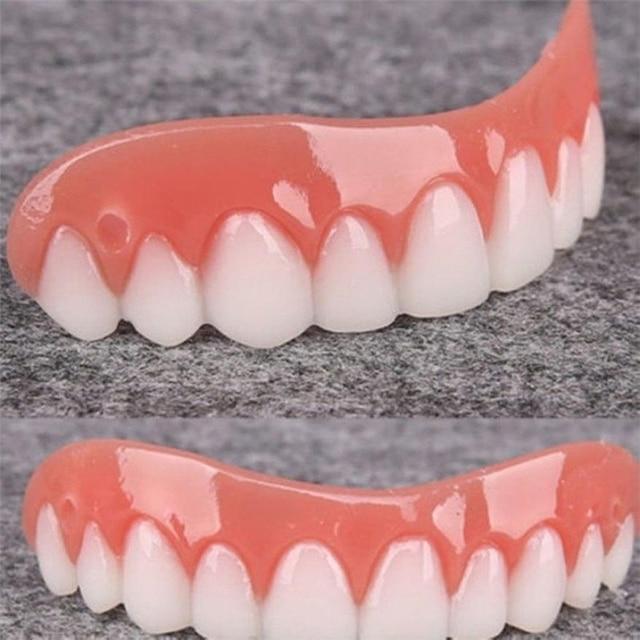1pcs Dental Veneers Comfort Fit Teeth Top Cosmetic Veneer One Size Fits All Denture Adhesives Tooth False denture teeth smile df