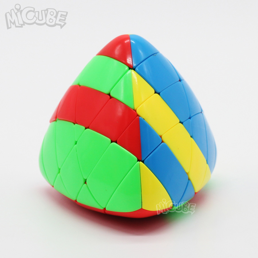 Shengshou Mastermorphix 4x4 Rice Dumpling Stickerless Magic Cubes Puzzle Toy Colorful Multicolor Special Hight Difficult 4x4x4