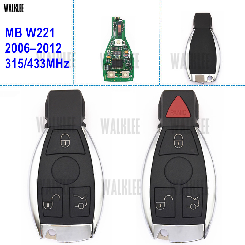WALKLEE Smart Remote Key for Mercedes Benz W221 S320 S280 S250 S300 S350 S400 S450 S500 S600 S420 DI 4MATIC S63 S65 AMG