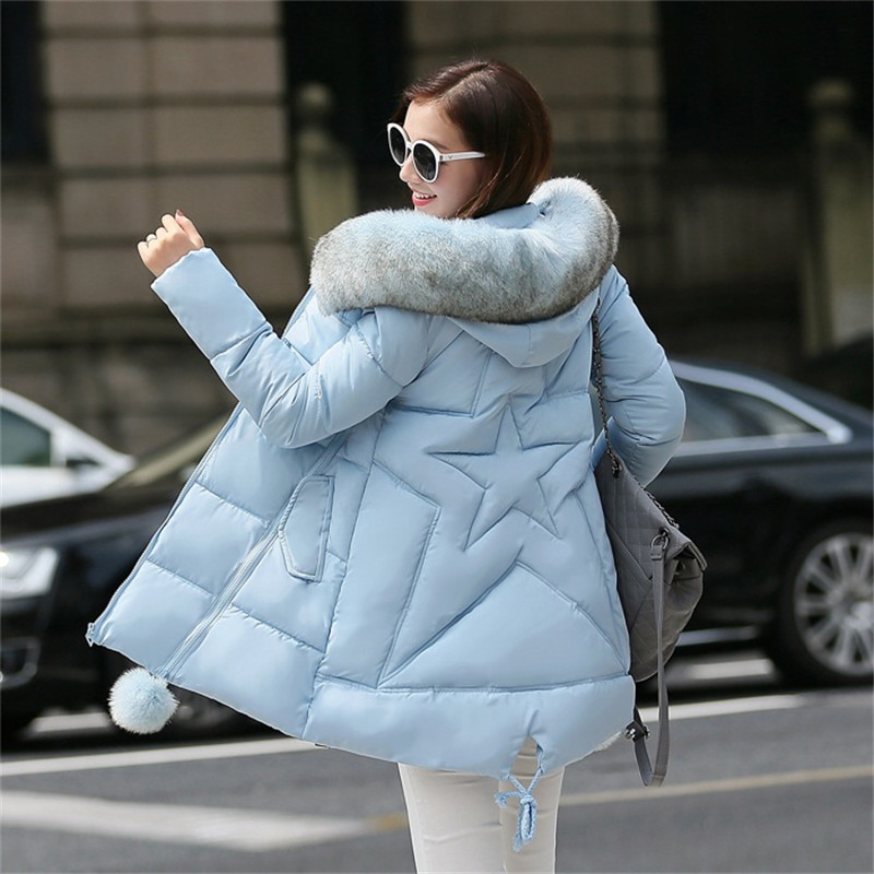 2018 winter jacket women long coat female ladies overcoat   Parka   fur collar Cotton Padded Warm Coat Plus Size High Quality Y25