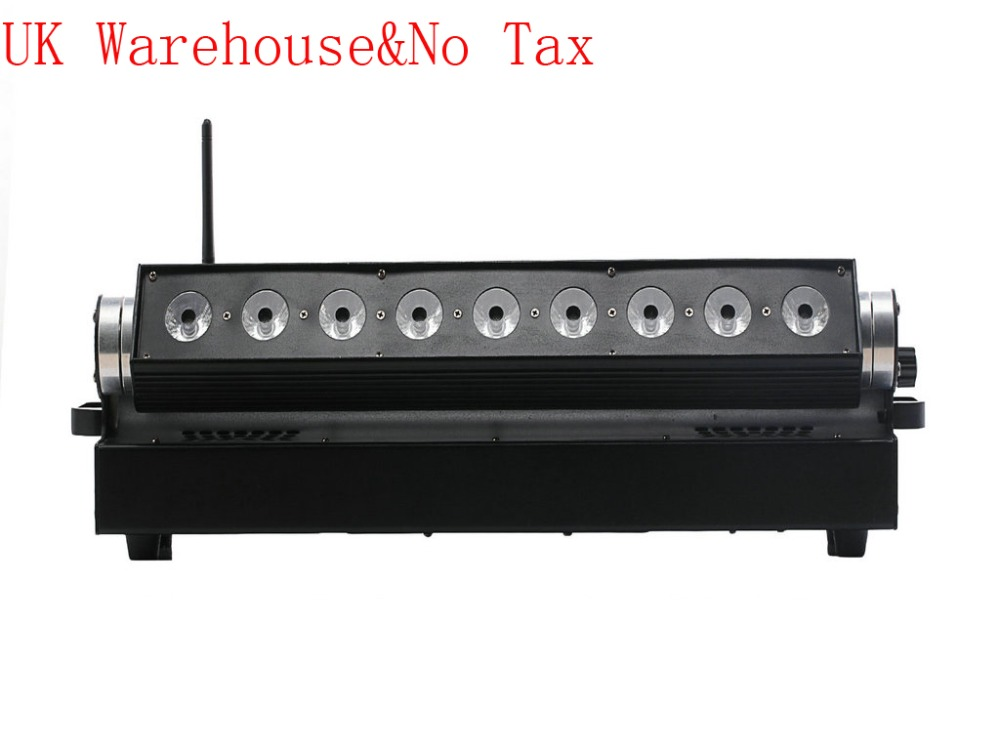 4x серия Великобритания наличии Раша светодиодные прожекторы свет 9*15 Вт 5in1 RGBAW УФ Батарея батареях Светодиодные стены DMX свет этапа нет налог