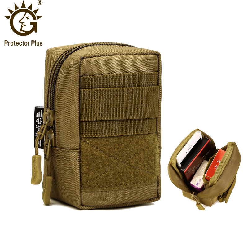 Protector Plus Nylon Tactical Molle Pouch Outdoor Small Military Waist Pack Army EDC Molle Bag Tool Pouch 4.7 inch 4Colors cqc tactical molle system medical pouch utility edc tool molle pouch waist pack phone pouch hunting 1000d molle bag