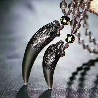 Natural ice black obsidian stone pendant spike wolfs fang women natural ice black obsidian stone pendant spike wolfs fang women mens amulet lucky jades jewelry pendants with free rope in charms from jewelry aloadofball Gallery