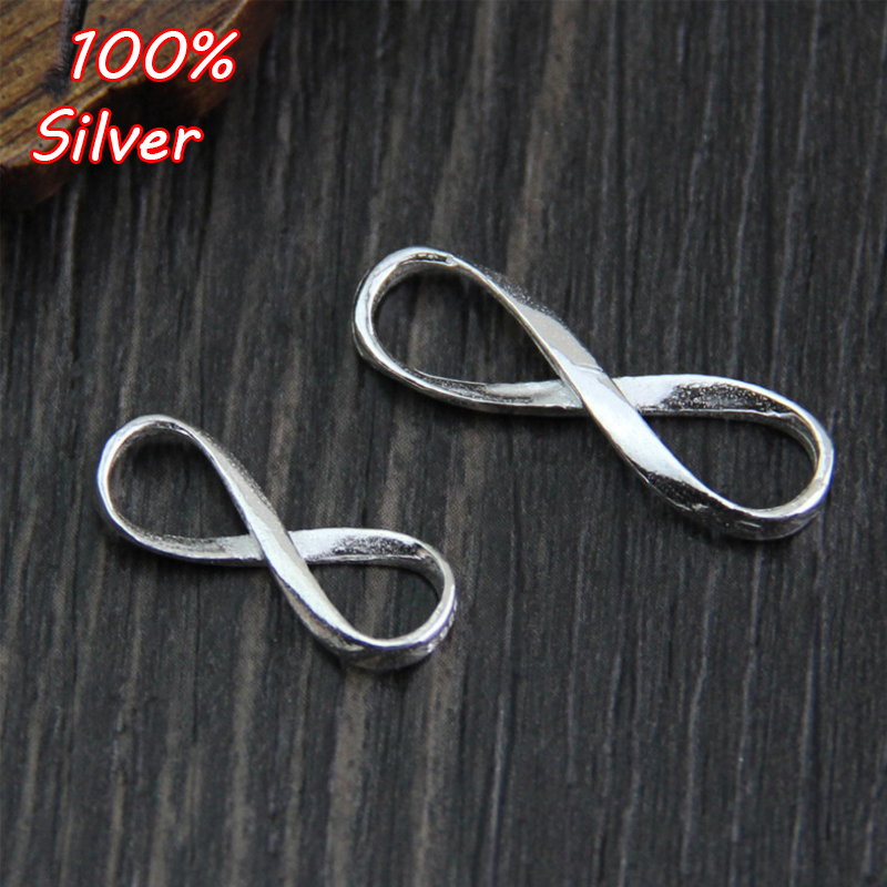 Sterling silver 925 Infinity sign plain charms connector