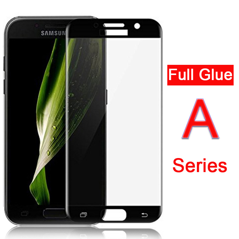 <font><b>Case</b></font> On The For <font><b>Samsung</b></font> A3 A5 A7 2017 full Cover Full Glue Tempered Glass Galaxy A 3 5 <font><b>7</b></font> Screen Protector Protective glass 5d 9h image