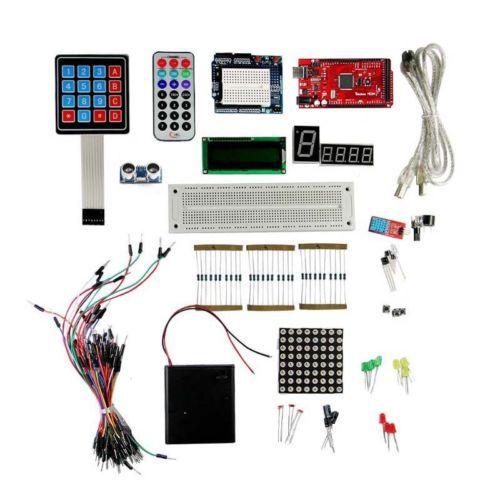 Nouveaux kits d'étoiles pour arduino platine de prototypage mega 2560 R3 LCD1602 Buzzer LED résistance réglable de brûlure