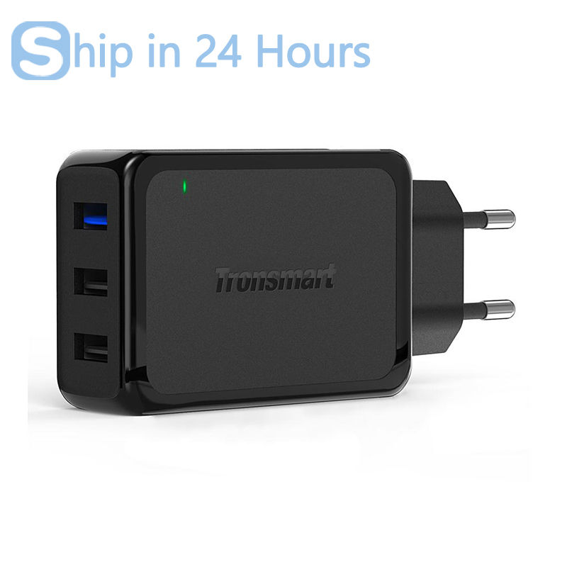Tronsmart W3PTA 3 Ports USB Charger Qualcomm Certified Quick Charge 3 0 QC3 0 USB Smart