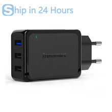 Tronsmart W3PTA 3 Ports USB Charger Qualcomm Certified Quick Charge 3.0 QC3.0 USB Smart Charger for Phone Power Bank EU/US/UK