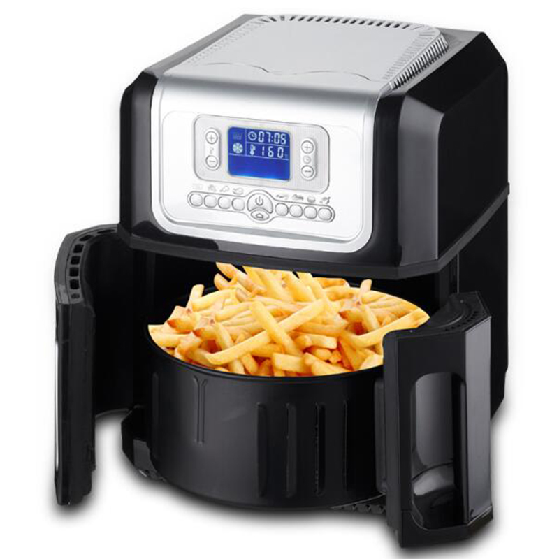 Electric Deep Fryers xk301 LCD third generation cooking frye intelligent 3.2L large capacity without oil Electric deep fryer 1PC the five generation of large capacity intelligent french fries without oil electric deep fryers