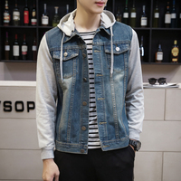 TRUST DREAM Autumn Winter Men Denim Jacket Slim Long Sleeve Cotton Casual Man Jacket Outwear Plus