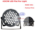 12Pcs Factory Price 120W Led Par Can 42X3W 4IN1 RGBW Led Slim Par Light Strobe Laser DMX DJ Disco Home Party Entertainment Light