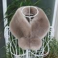 Inverno falso gola de pele de coelho rex pele com gola de pele casaco de inverno mulheres homens falso cachecol de pele quente