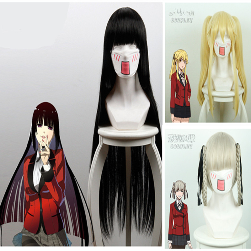 Anime Kakegurui Cosplay Costume Halloween Jabami Yumeko wig Cosplay Costume Igarashi Sayaka wig Cosplay