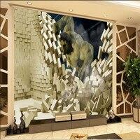 Custom Mural Wallpaper 3D Stereoscopic Creative Cartoon Game Large Murals Hulk Movie Theme Wallpaper Cinemas Wall