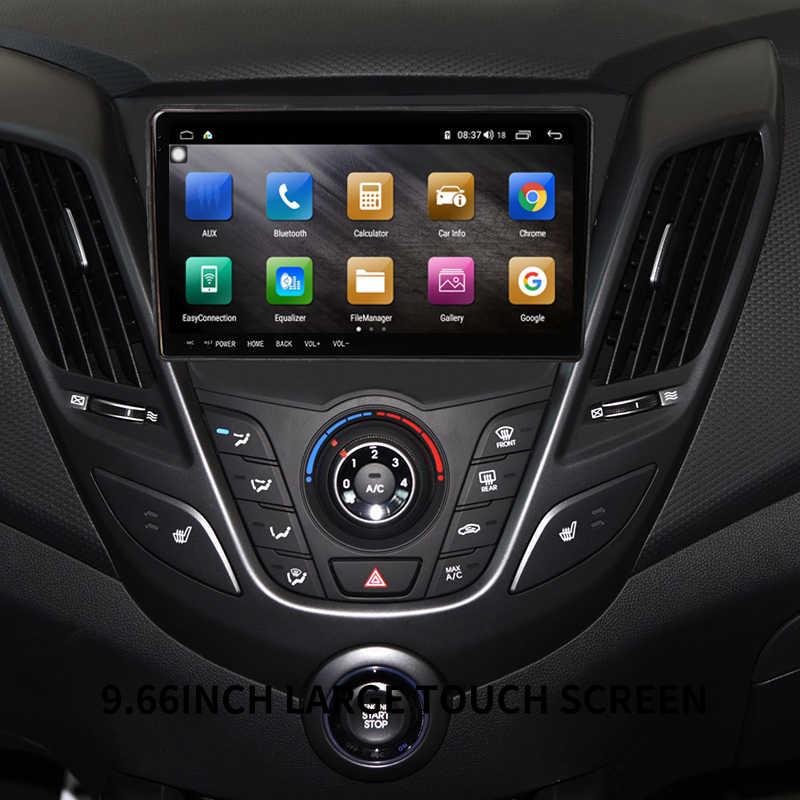 Octa core Android 8,1 pantalla táctil de 9,66 pulgadas 4 + 64 reproductor de DVD Multimedia para coche GPS navi cámara de respaldo para hyundai i 30 2015