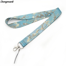 F513 Van Goghs Oil Painting Keychain Lanyards Id Badge Holder ID Card Pass Mobile Phone USB Key Strap