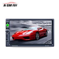 7157B Double DIN Car Stereo 7 Inch Touch Screen Bluetooth HD Card Reader Radio Fast Charge