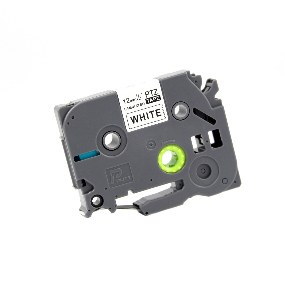 PUTY 10 шт. Совместимость Tz231 12 мм черный на White Label лента для Ptouch лента для принтера этикеток tze231