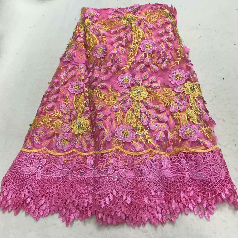 2018 African Lace High Quality French Lace Fabric With stone Pink African Lace Fabric For Nigerian Wedding Dress2018 African Lace High Quality French Lace Fabric With stone Pink African Lace Fabric For Nigerian Wedding Dress