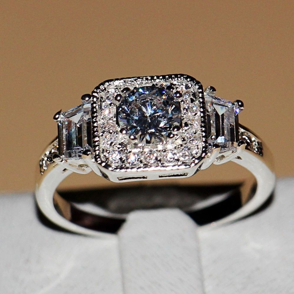 Online Buy Wholesale diamonique engagement rings from China