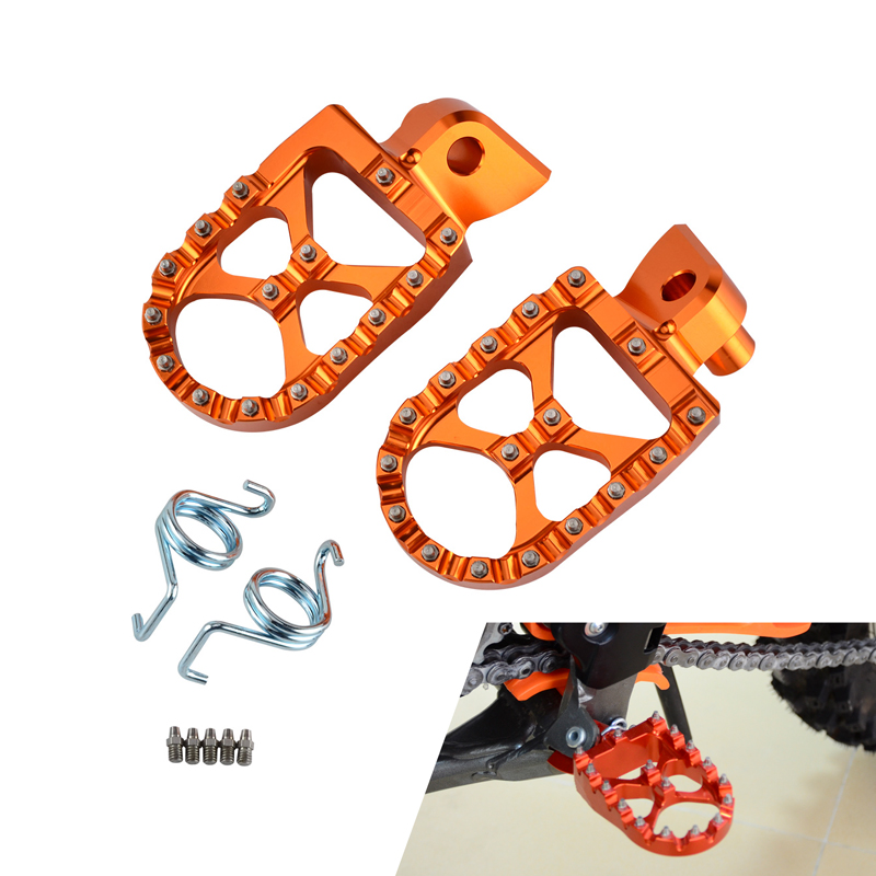 H2CNC Motorcycle Foot Pegs Footrests Footpeg Pedals Pins Set For 990 1050 1090 1190 ADVENTURE R 990 SUPER MOTO R S T ETC