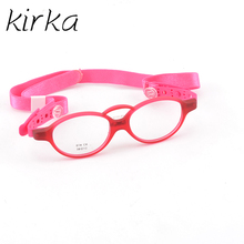Kirka Children Prescription Glasses Red Kids Eyewear Frames Flexible Eye Spectacle Frame For Girls