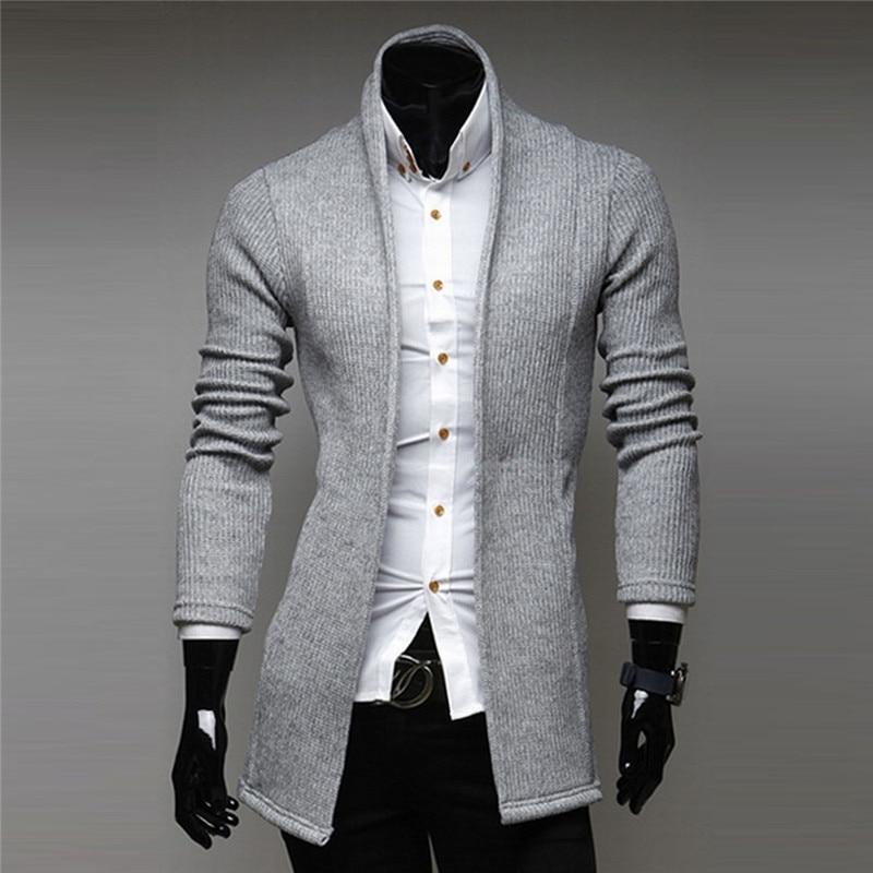 New Mens Cardigan Sweater Coat Full Long Sleeve V Neck Warm Autumn ...