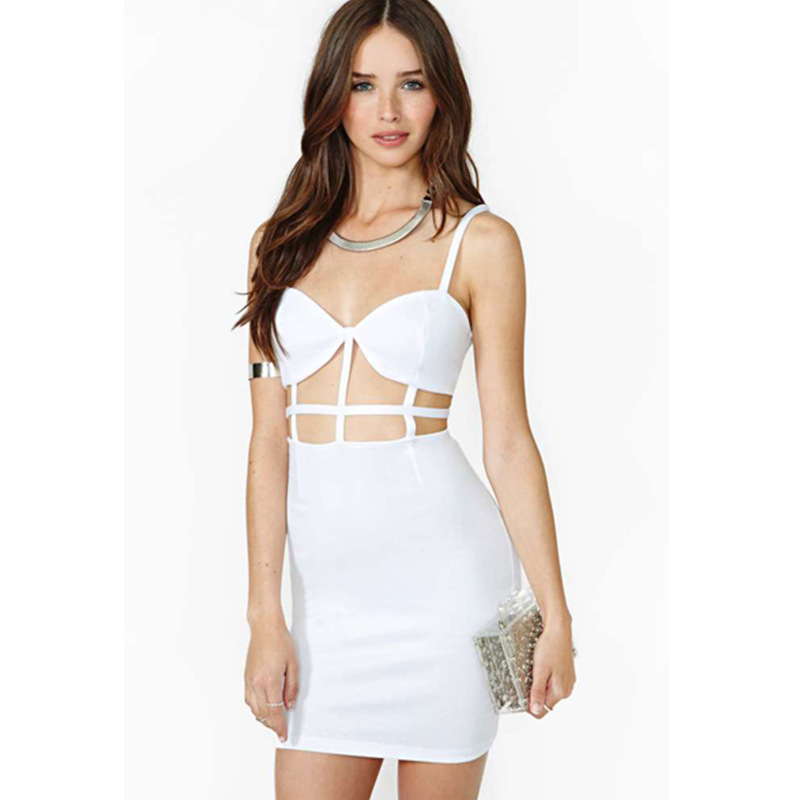 Aliexpress.com : Buy Women sexy club dresses mesh white backless ...