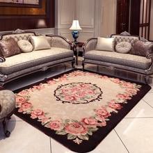 все цены на Large European Pastoral Living Room Carpet Luxurious Flower Carpet Home Decor Mat Super Soft Coral Velvet Anti-slip Carpet Rug онлайн