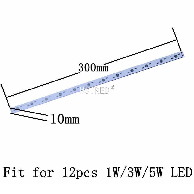 50pcs 100pcs 10W 30W LED 36W Aluminum Base Plate 500mm*10mm 300*10mm Rectangle Lamp pcb For High Power LED Lights