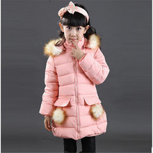 Зимние высококачественные Для модно одевающихся девочек хлопка-ватник для девочек плотное пальто