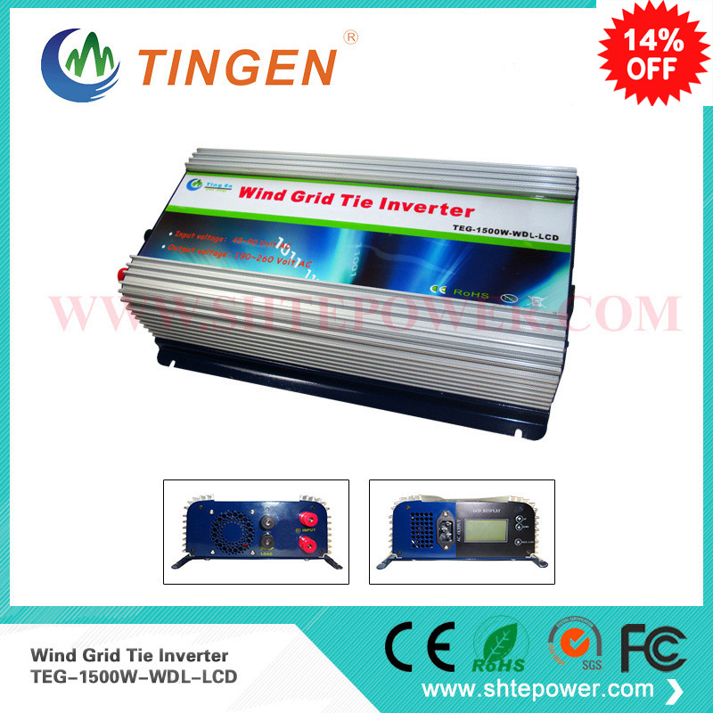 1.5kw 1500w wind grid tie inverter pure sine wave dc to ac 45-90v to 90-130v/190-260v different countries use in home 300w grid tie solar controller inverter mppt pure sine wave ac output can adjustable 90 130v to 190 260v dc input 22 60v