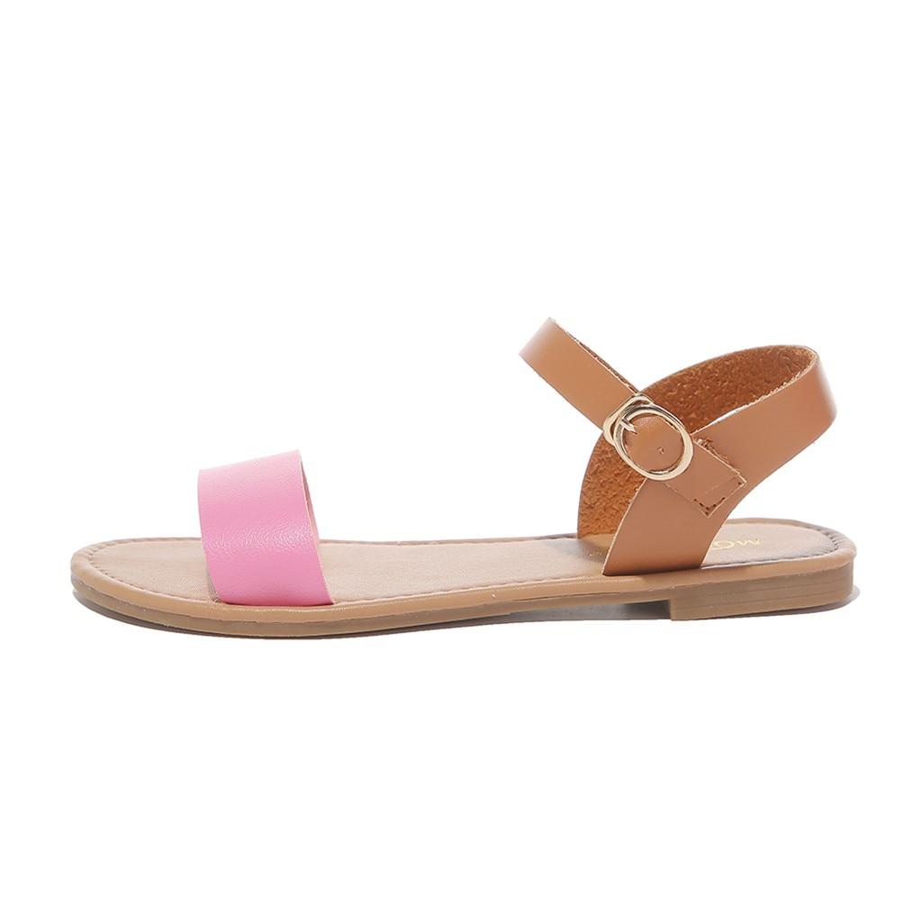 HTB13s4zQwHqK1RjSZJnq6zNLpXaB SAGACE Women's Sandals Solid Color PU Leather Sandals Women Fashion Style Flat Summer Women Shoes Women Shoes 2019 Sandals 41018