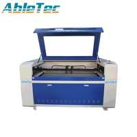SHANDONG NEW MODE TWO HEADS CO2 LASER MACHINE ABJ1390 2 WITH TWO 60W LASER TUBE