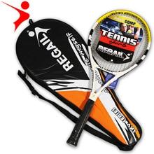 1 Piece Men Junior Carbon Tennis Racquet Training Racket for Kids Youth Childrens Tennis Rackets
