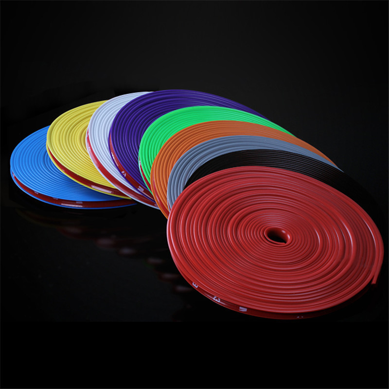8M Car Hub Trim Decoration Anti-Collision Strip Wheel Rim Protector Ring Wheel Tire Edge Changer Guard Styling Stickers