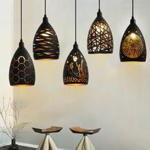 Современный светодиодный подвесной светильник с железной Полой Металлической клеткой, подвесной светильник для гостиной, ресторана, магазина, бара, украшение
