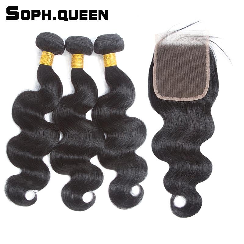 Soph queen brazil test hullámcsomagok bezárása 100% Remy emberi - Emberi haj (fekete)