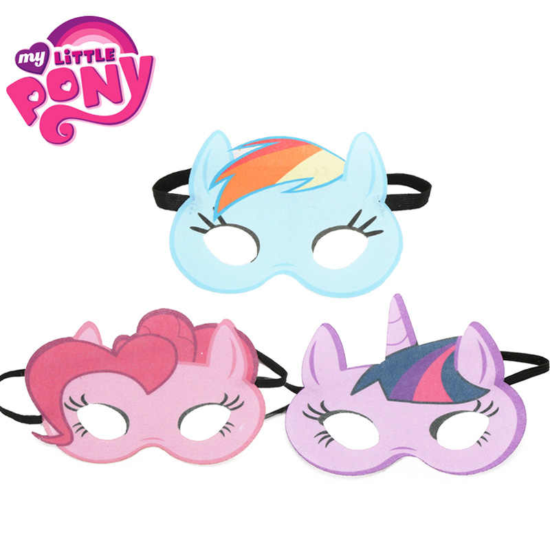 My little pony Toys Masks Cosplay Eye Mask Princess Pinkie Pie Twilight Sparkle Rainbow Dash Costumes kids Cloth Masks Halloween