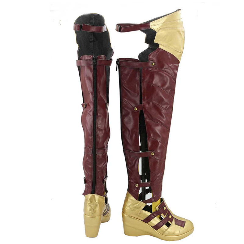 Batman v Superman:Dawn of Justice Superman Wonder Women Boots Halloween Cosplay Costume Shoes For Adult Women Custom Made
