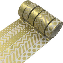 Decorative-Tapes Scrapbooking Japanese Paper Golden-Dot Honeycomb 1pcs for Photo-Album