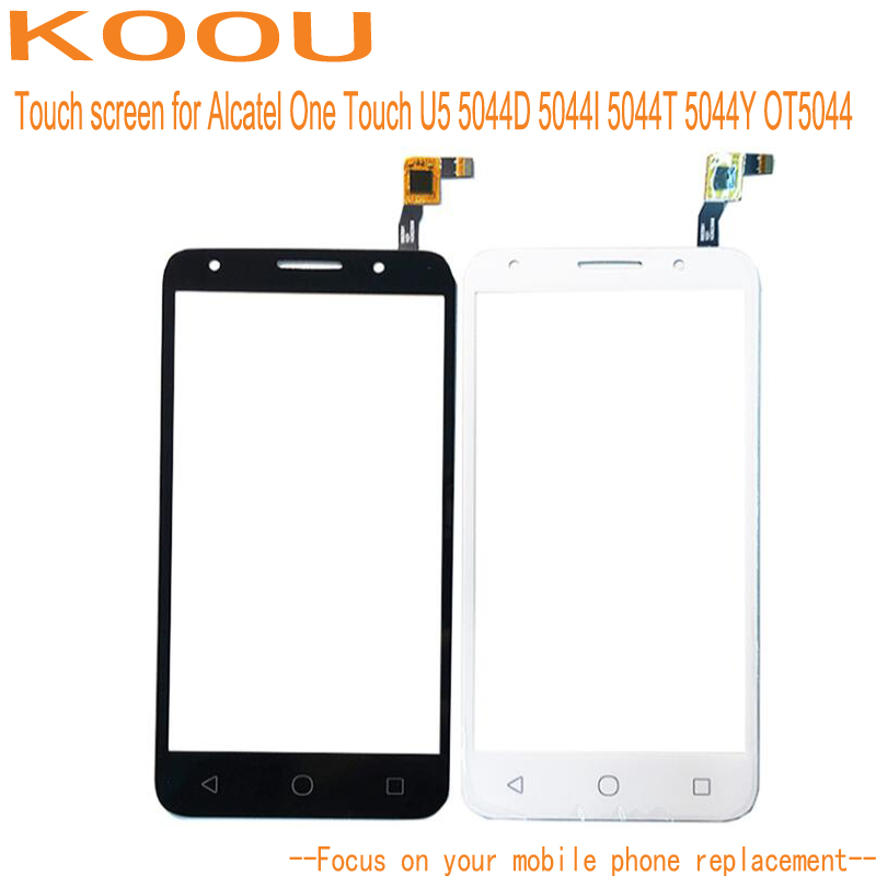 Touch Screen Sensor Alcatel One Touch U5 5044D 5044I 5044T 5044Y OT5044 5.0'' Digitizer Assembly Replacement Parts Black White