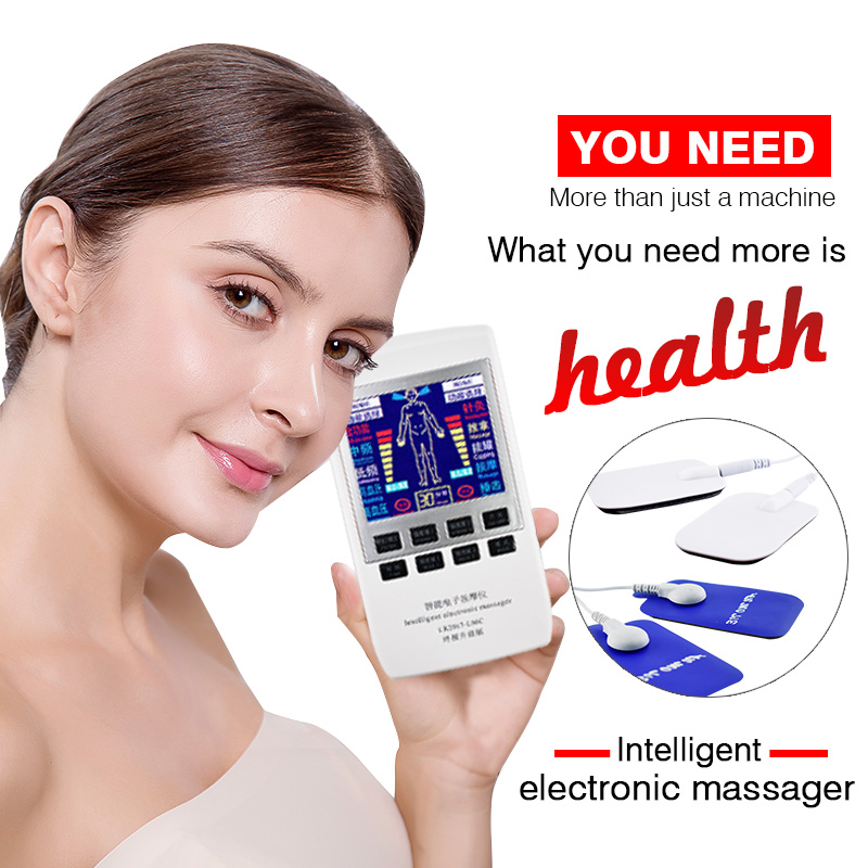 Electrotherapy Physiotherapy Pulse Massager Slimming Muscle Stimulator LCD Rechargeable Massage apparatus Anti-fatigue Relax wholesale cycle pulse physiotherapy number low frequency slimming mini massage instrument