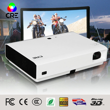 2016 cre 3000lumens Android 4.4 HD 3LED Wifi Smart Projector  3D home theater DLP Video Proyector TV Beamer with Bluetooth 4.0