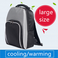 big large black thick thermal cooling backpack family picnic food storage bag insulated organizer height 45cm,width 33cm