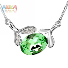 Colares Femininos Necklace Women free Shipping Fashion Crystal From Swarovski Pendant Necklace Jewellry Made with crystal #91413(China)