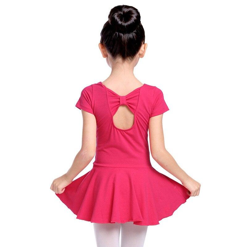 Cute Ballet Dress For Girls Gymnastics Leotard Ballet Dancing Dresses Bowknot Design Practice Skating Dresses for Children